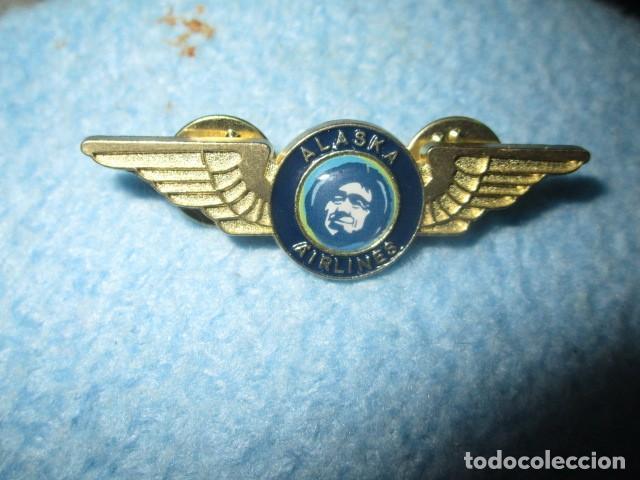 Coleccionismo: aviacion alaska airlines insignia pin medidas 5 cms - Foto 4 - 194237531