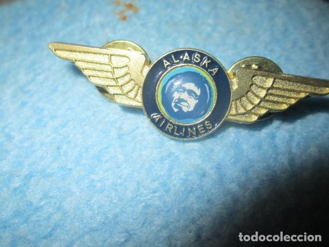 Coleccionismo: aviacion alaska airlines insignia pin medidas 5 cms - Foto 5 - 194237531