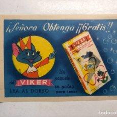 Coleccionismo: VIKER EN POLVO. PUBLICIDAD COMERCIAL PRODUCTOS DE LIMPIEZA... (H.1950?). Lote 194244436