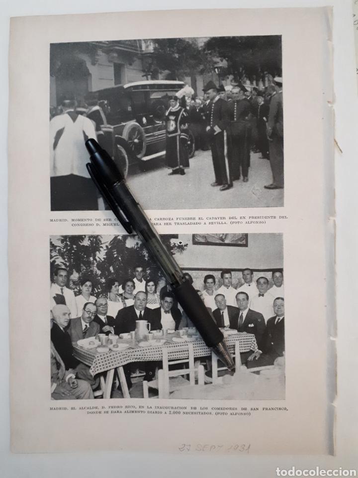 MADRID. CORTEJO FUNEBRE DE D. MIGUEL VILLANUEVA. 1931 (Coleccionismo - Laminas, Programas y Otros Documentos)