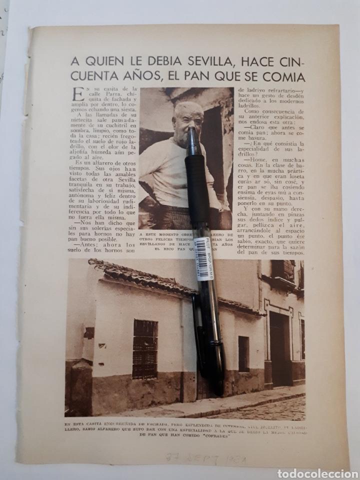 A QUIEN LE DEBIA SEVILLA, HACE CINCUENTA AÑOS, EL PAN QUE SE COMIA. 1931 (Coleccionismo - Laminas, Programas y Otros Documentos)