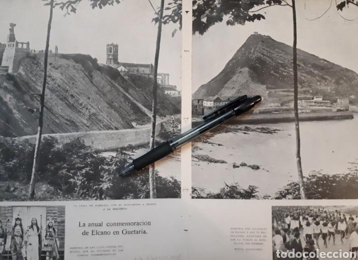 LA ANUAL CONMEMORACION DE ELCANO EN GUETARIA. 1931 (Coleccionismo - Laminas, Programas y Otros Documentos)