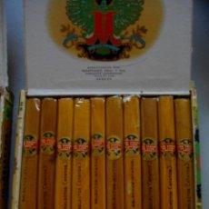 Coleccionismo: CAJA DE PUROS LOS STATOS DE LUXE ( 10 SELECCTOS) COMPLETA Y EXCELENTE ESTADO AÑOS 80. Lote 194275608