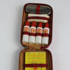 Coleccionismo: BOTIQUIN DE VIAJE DE PIEL. MEDIADOS S.XX.. Lote 194290486