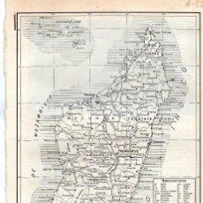 Coleccionismo: LÁMINA ESPASA A-85.- MAPA DE MADAGASCAR. Lote 194305512