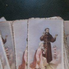 Coleccionismo: ANTIGUA ESTAMPA RELIGIOSA LOTE. Lote 194306645