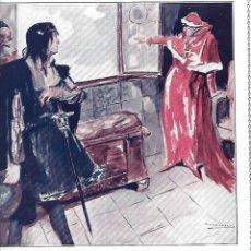 Coleccionismo: AÑO 1917 RECORTE PRENSA RELATO CORTO EL LEON TONSURADO POR ORTEGA MUNILLA DIBUJO DE MARIN. Lote 194334982