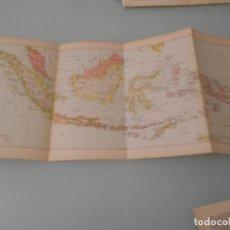 Coleccionismo: LÁMINA ESPASA- 113 - LÁMINA DESPLEGABLE MAPA INDONESIA. Lote 194337930