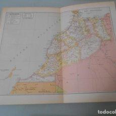 Coleccionismo: LÁMINA ESPASA - A-114 - DOBLE LÁMINA MAPA MARRUECOS. Lote 194338137