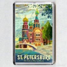 Coleccionismo: IMAN ACRÍLICO NEVERA - SAN PETERSBURGO (RUSIA). Lote 194338272
