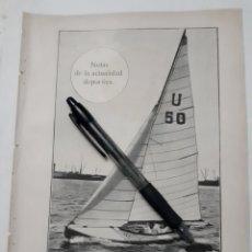 Coleccionismo: NOTAS DE LA ACTUALIDAD DEPORTIVA. 1931. Lote 194349828