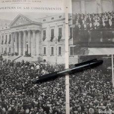 Coleccionismo: SOLEMNE APERTURA DE LAS CONSTITUYENTES / MALAGA RINDE HOMENAJE A SALVADOR RUEDA. 1931. Lote 194350225