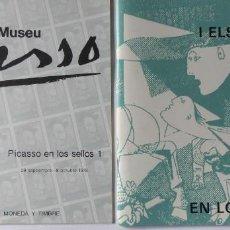 Coleccionismo: PR-1674. CATALOGO PICASSO EN LOS SELLOS 1 Y 2. MUSEU PICASSO AÑO 1978. DOS CATALOGOS. Lote 194353955