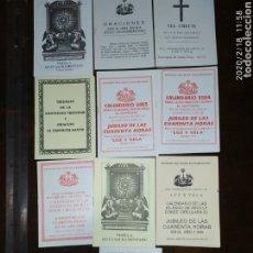 Coleccionismo: LOTE ADORACIÓN NOCTURNA FEMENINA SEVILLA, BOLETINES DEL ROSARIO, LUZ Y VELA. Lote 194380897