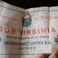 Coleccionismo: EMPLASTO PUBLICITARIO PARA LOS RIÑONES SOR VIRGINIA LABORATORIOS UNITEX. Lote 194394555