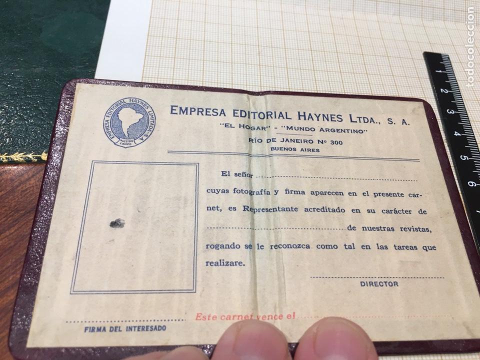 Coleccionismo: Carnet El Hogar y Mundo Argentino - - Foto 2 - 194398780
