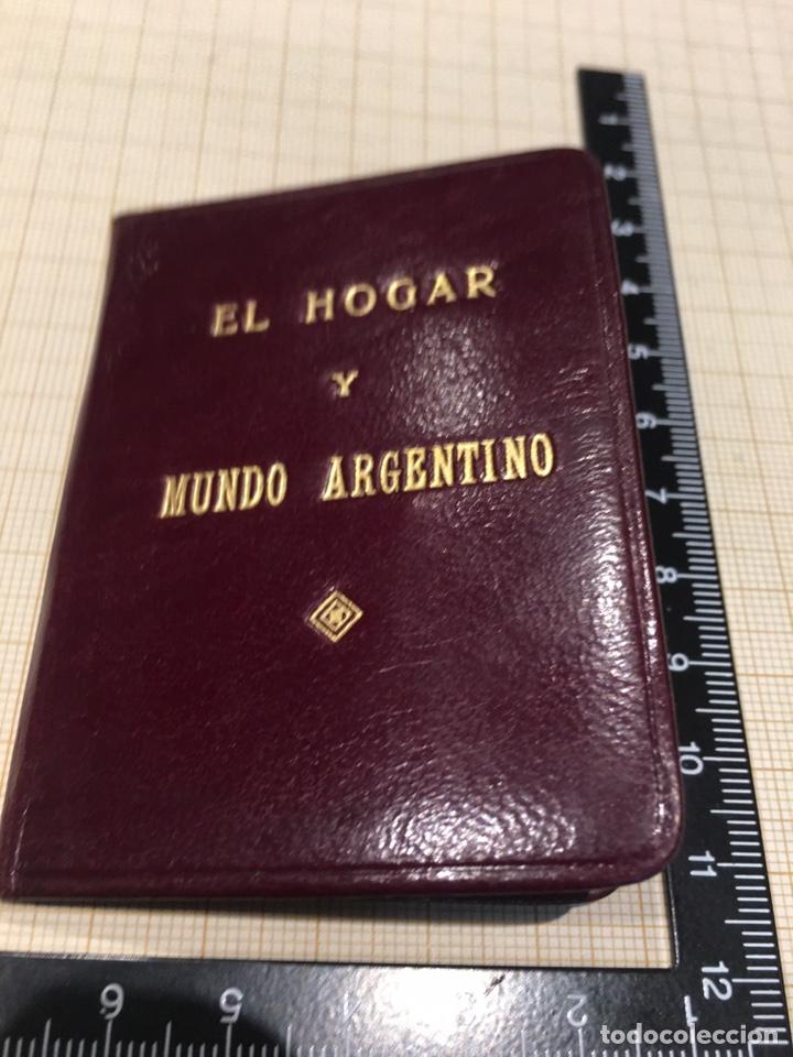 CARNET EL HOGAR Y MUNDO ARGENTINO - (Coleccionismo - Varios)