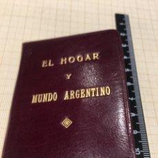 Coleccionismo: CARNET EL HOGAR Y MUNDO ARGENTINO -. Lote 194398780