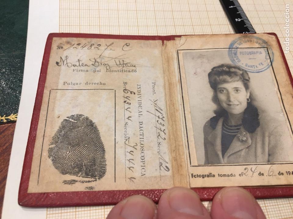 Coleccionismo: Cédula de Identidad- Republica Argentina- policia Santa Fe - Foto 2 - 194399807