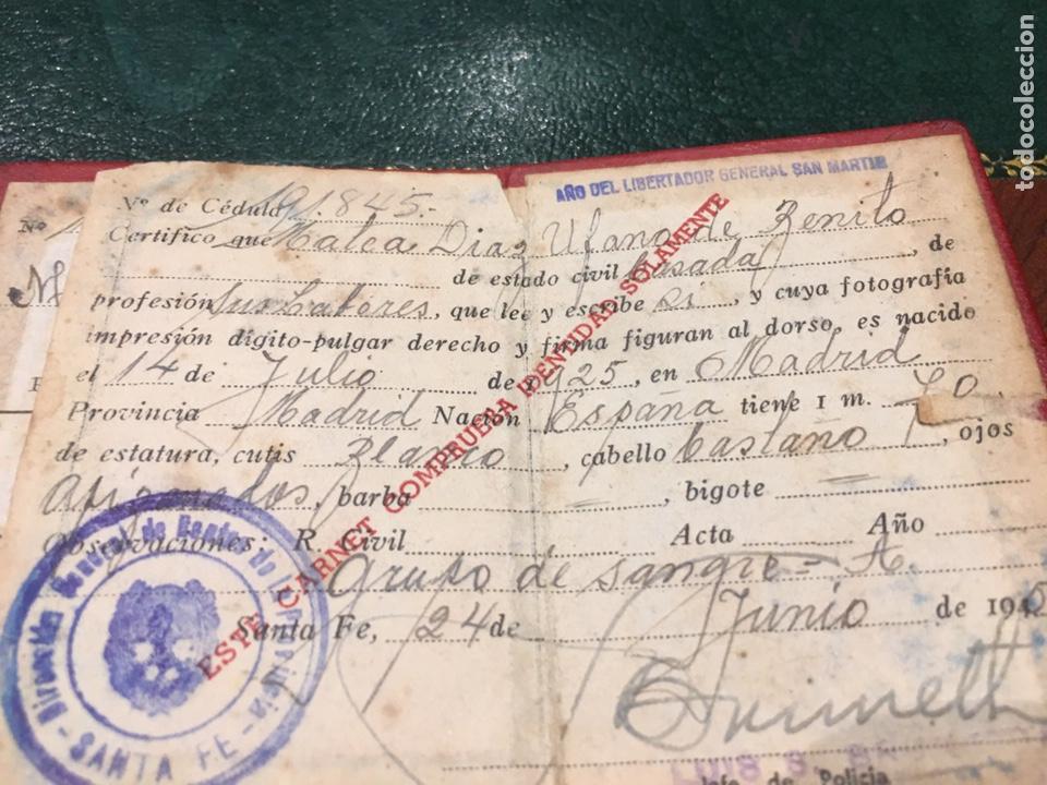 Coleccionismo: Cédula de Identidad- Republica Argentina- policia Santa Fe - Foto 3 - 194399807