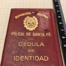 Coleccionismo: CÉDULA DE IDENTIDAD- REPUBLICA ARGENTINA- POLICIA SANTA FE. Lote 194399807