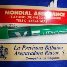 Coleccionismo: TARJETA LA PREVISORA BILBAÍNA ASEGURADORA RIAZOR S.A. COMPAÑÍA DE SEGUROS. Lote 194510615