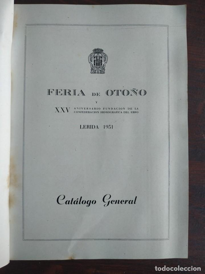 Coleccionismo: Feria de Otoño y XXV aniversario fundación de la confederación hidrográfica del Ebro en Lleida 1951 - Foto 3 - 194513031