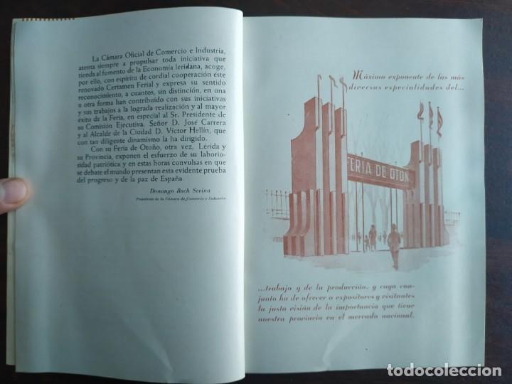 Coleccionismo: Feria de Otoño y XXV aniversario fundación de la confederación hidrográfica del Ebro en Lleida 1951 - Foto 7 - 194513031