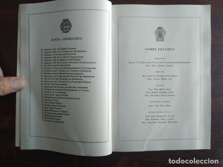 Coleccionismo: Feria de Otoño y XXV aniversario fundación de la confederación hidrográfica del Ebro en Lleida 1951 - Foto 10 - 194513031