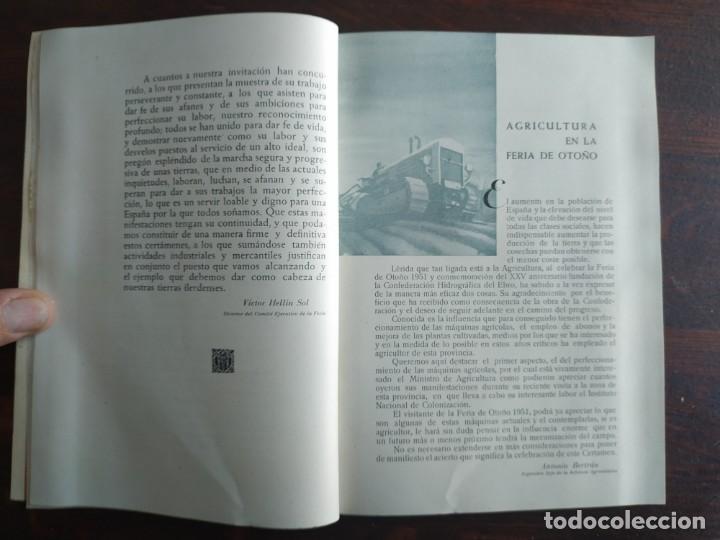 Coleccionismo: Feria de Otoño y XXV aniversario fundación de la confederación hidrográfica del Ebro en Lleida 1951 - Foto 11 - 194513031