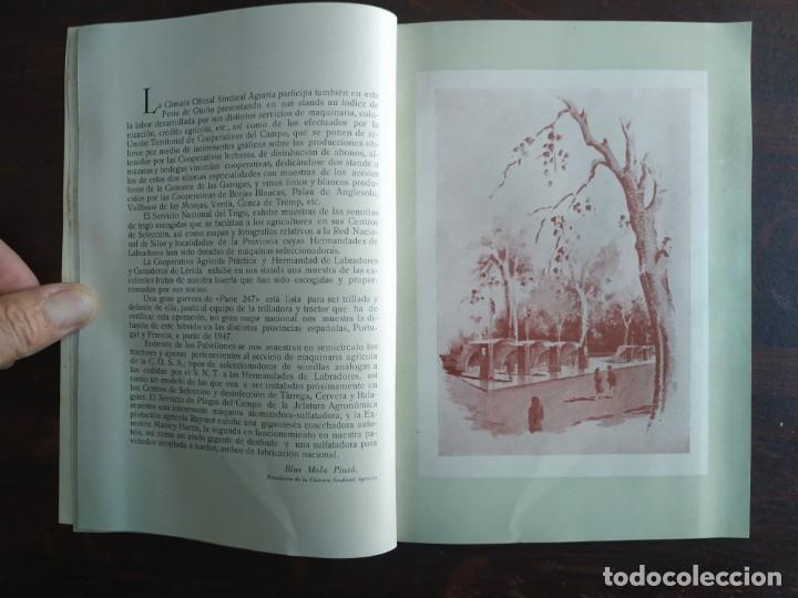 Coleccionismo: Feria de Otoño y XXV aniversario fundación de la confederación hidrográfica del Ebro en Lleida 1951 - Foto 12 - 194513031