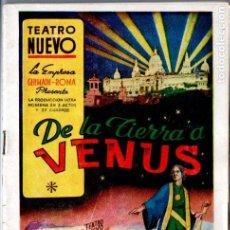 Coleccionismo: PROGRAMA DE TEATRO REVISTA TEATRO NUEVO DE BARCELONA : DE LA TIERRA A VENUS (C. 1943). Lote 194516990