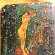 Coleccionismo: PITILLERA DE ALPACA CON ESCENA ERÓTICA. Lote 194573428