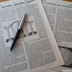 Coleccionismo: SANTA MELANIA, ARCHIMILLONARÍA. CARDENAL RAMPOLLA Y UN MANUSCRITO DEL ESCORIAL / DAMAS DE GABINETE.. Lote 194584708