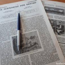 Coleccionismo: UN SUBMARINO POR DENTRO / EL ARTE DE IMITAR BRONCES ANTIGUOS.1906. Lote 194584996