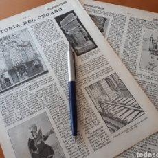 Coleccionismo: HISTÓRIA DEL ÓRGANO. / ALFOMBRAS CARAS Y CURIOSAS / DOMESTICIDAD DEL JABALÍ.1906. Lote 194585631