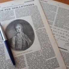 Coleccionismo: COMO ACABAN LAS FAVORITAS. LA QUE FUE GUILLOTINADA / TELEFONÍA SIN HILOS 1906. Lote 194585782