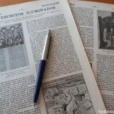 Coleccionismo: MANUSCRITOS ILUMINADOS, MINIATURISTAS Y CALÍGRAFOS / EDIFICAR EN EL OCEANO / ELECTRICIDAD 1906. Lote 194586162