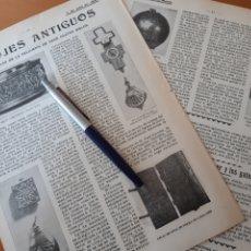 Coleccionismo: RELOJES ANTIGUOS/ LA TREMENTINA / EL KAISER SUS GATOS / SALUDOS INTERNACIONALES, ETIQUETA NAVAL 1906. Lote 194586286