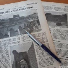 Coleccionismo: LEDESMA Y SUS RECUERDOS. SALAMANCA / COMO SE BAUTIZA LAS CIUDADES NUEVAS / NUEVO AEROPLANO. 1906. Lote 194586923