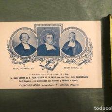 Coleccionismo: SAN JUAN BAUTISTA DE LA SALLE - VICE POSTULACIÓN - BEATO SALOMÓN Y BEATO BENILDO 1957. Lote 194614561