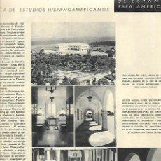 Coleccionismo: AÑO 1948 RECORTE PRENSA LA ESCUELA DE ESTUDIOS HISPANOAMERICANOS. Lote 194639136