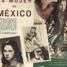 Coleccionismo: AÑO 1948 RECORTE PRENSA MEXICO LA MUJER MEJICANA. Lote 194639245