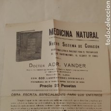 Coleccionismo: ANTIGUO FOLLETO MEDICINA NATURAL. Lote 194641922
