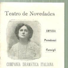 Coleccionismo: 3922.- TEATRO NOVEDADES- COMPAÑIA DRAMATICA ITALIANA TINA DI LORENZO - AMANTI DE D.DOUNAY. Lote 194667213