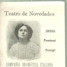 Coleccionismo: 3922.- TEATRO NOVEDADES- COMPAÑIA DRAMATICA ITALIANA TINA DI LORENZO -LA DAMA DE LAS CAMELIAS -DUMAS. Lote 194667690