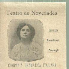 Coleccionismo: 3922.- TEATRO NOVEDADES- COMPAÑIA DRAMATICA ITALIANA TINA DI LORENZO -LOCANDIERA GOLDONI. Lote 194668270