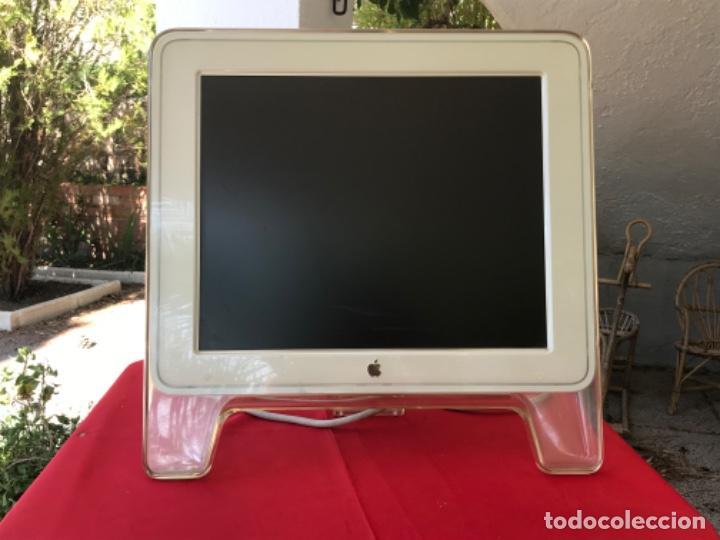 Monitor apple estudio display 2003 M 7649 LCD 17 mac co conector Adc funcionando apple vintage segunda mano