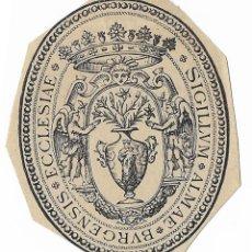 Coleccionismo: ANTIGUO SELLO TINTA SOBRE PAPEL - SIGILLUM ALMAE BURGENSIS ECCLESIAE - BURGOS - BURGENSIS. Lote 194729931