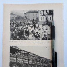 Coleccionismo: AMOREBIETA (VIZCAYA) HOMENAJE A LOS VASCOS DE AMÉRICA. GIJÓN (INCENDIO EN EL MOLINÓN) 1931. Lote 194755130